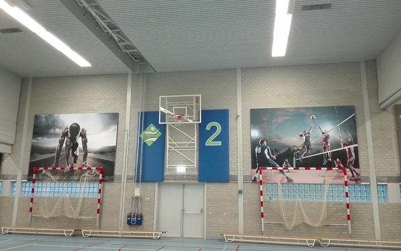 Akoestische wandpanelen Sintmeerten College